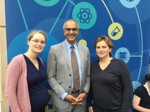 Frau Dr. Woopen, Herr Prof. Sehouli und Frau Dr. Braicu